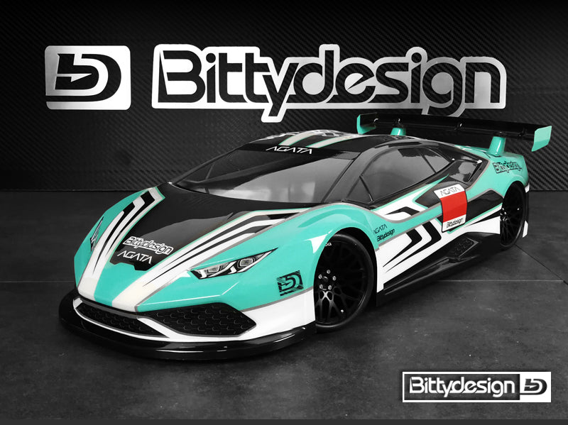 BITTYDESIGN Agata 1/10 GT Body (Clear) (190mm) - BDGT-190AGT