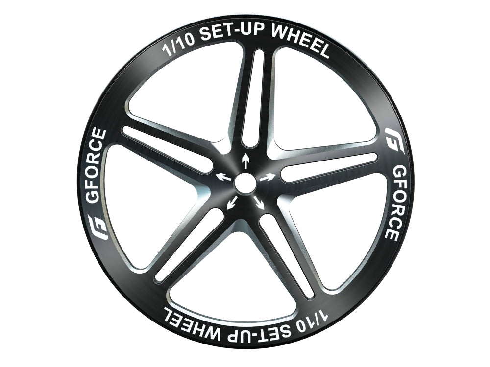G-FORCE 1/10 Set-up Wheel Black - G0092