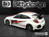 BITTYDESIGN HC-M 1/10 M-Chassis Body (Clear) - BDFWD-HCM