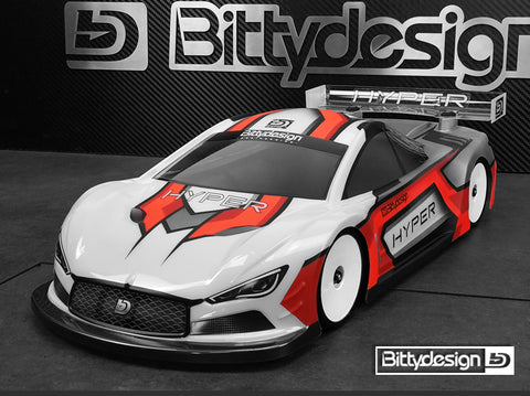 BITTYDESIGN Hyper 1/10 Touring Car Body (Clear) (190mm) (Light Weight) - BDTC-190HYP
