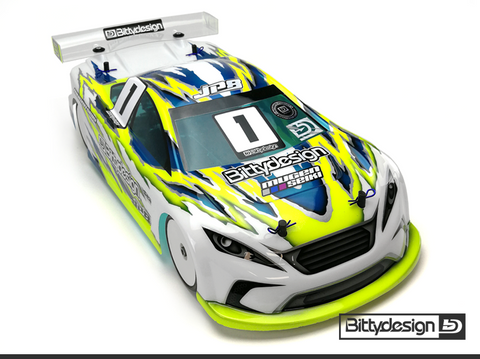 BITTYDESIGN JP8 1/10 Touring Car Body (Clear) (190mm) (Light Weight) - BDYTC-190JP8