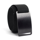 GRIP6 Classic Series Belt - Black Aluminum Buckle with Black Strap - 36 Inch