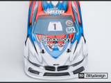 BITTYDESIGN M410 Pre-Cut 1/10 Touring Car Body (Clear) (190mm) (Light Weight) (BD8 17) - BDYTC-190M410-YOK