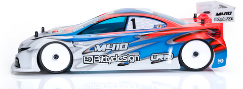 BITTYDESIGN M410 Pre-Cut 1/10 Touring Car Body (Clear) (190mm) (Light Weight) (XRAY) - BDYTC-190M410-XRY