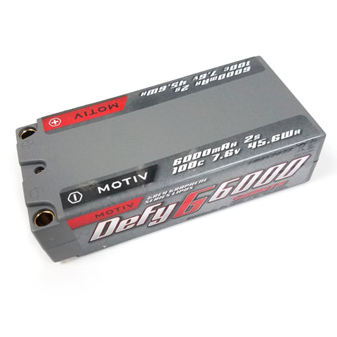 MOTIV Grey Graphene Pro Lipo 6000mAh 7.6V Shorty - MOV2036