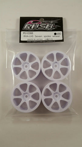 RUSH GT White Seven Spoke Wheels - RU-0388