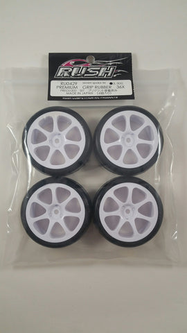 RUSH Premium Grip Type 36X Premount GT Seven Spoke White Wheels - RU-0501