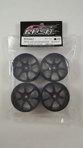 RUSH GT Black Seven Spoke Wheels - RU-0462