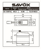 SAVOX Black Edition Standard Size Coreless Digital Servo .08/166 @ 6.0V - SC1258TG-BE