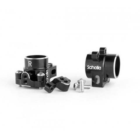 SCHELLE RACING B6 Aluminum Rear Hubs Black - SCH1234