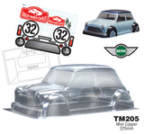 TEAM C Mini Cooper Clear Body 225mm - TM205