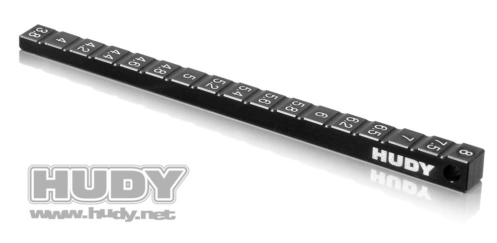 HUDY ULTRA-FINE CHASSIS RIDE HEIGHT GAUGE  - 107716 - ActivRC - 1