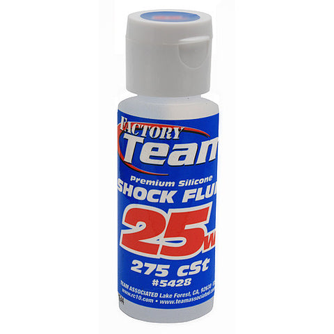 TEAM ASSOCIATED 25 WT SILICONE SHOCK OIL 2 OZ - 275 CST - 5428 - ActivRC