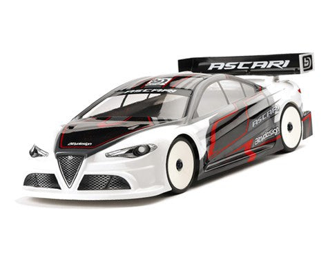 Bittydesign Ascari 1/10 Touring Car Body (Clear) (190mm) (Lightweight) - BDYTC-190ASC - ActivRC - 1
