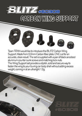 BLITZ CARBON WING SUPPORT - 60308 - ActivRC