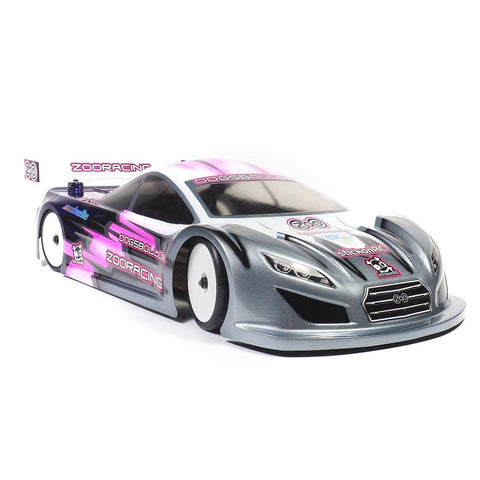 ZOORACING Dogsbollox 1/10 Touring Car Body Clear 190mm Standard - ZR-0005-07