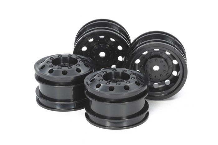 TAMIYA RC On Road Racing Truck Wheels - Black F/R (2pcs each) - 54741