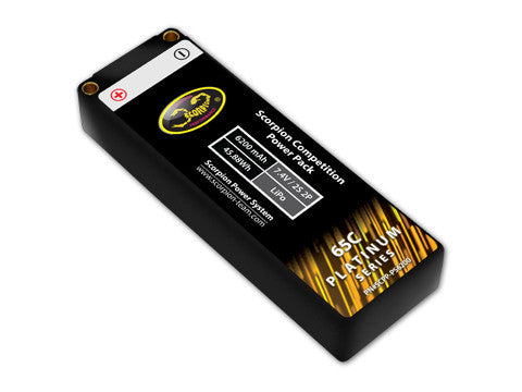 Scorpion Competition Power Pack (2S 6200 mAh) - Platinum Series (Black) - Roar Approved - ActivRC