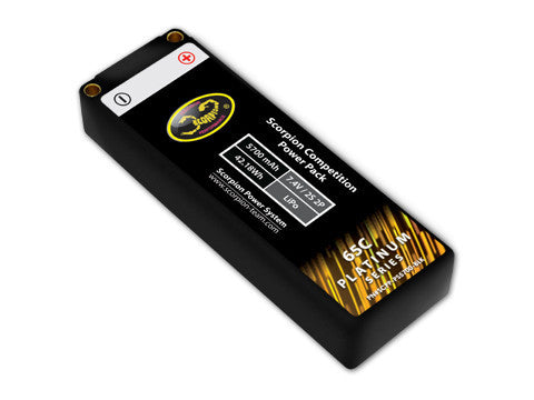 Scorpion Competition Power Pack (2S 5700 mAh) - Platinum Series - Roar Approved - ActivRC