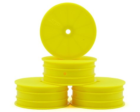 "JCONCEPTS 12mm Hex Mono 2.2"" Front Wheels TLR 22 5.0 Yellow (4pcs) - JCO3325Y"
