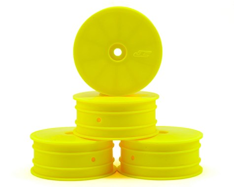 "JCONCEPTS 12mm Hex Mono 2.2"" 4wd Front Wheels Yellow TLR 22-4/XB4/SDX/ZX7/D418 (4pcs) - JCO3327Y"