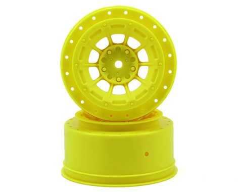 JCONCEPTS 12mm Hex Hazard Short Course Wheels 3mm Offset Yellow (SC5M) - JCO3344Y