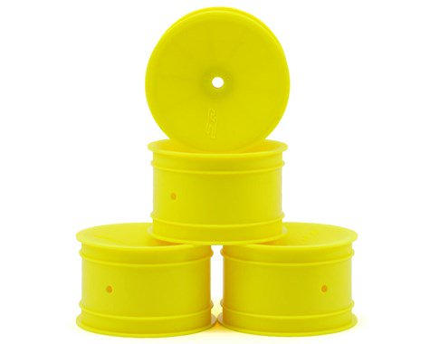 "JCONCEPTS 12mm Hex Mono 2.2"" Rear Wheels B6/B5/RB6 Yellow (4pcs) - JCO3348Y"