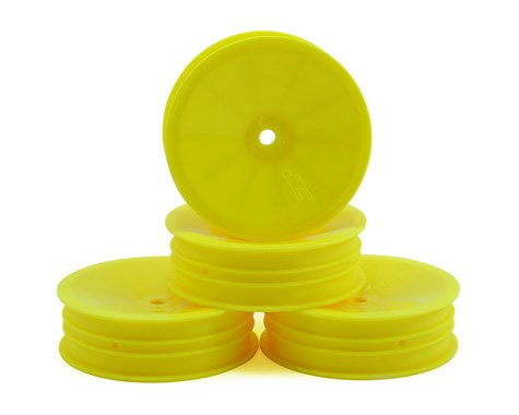 "JCONCEPTS 12mm Hex Mono 2.2"" Slim Front Wheels B6/RB6/SRX2/YZ2 Yellow (4pcs) - JCO3376Y"