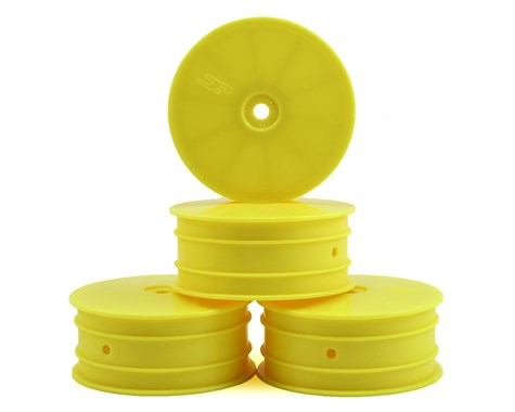 JCONCEPTS 12mm Hex Mono Front Wheels B64 Yellow (4pcs) - JCO3381Y