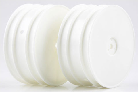 KYOSHO 12mm Hex 4WD Front Buggy Wheels 56mm Flush ZX6 White - W5201W