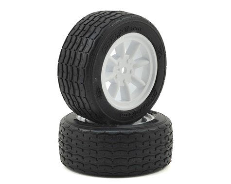 PROTOFORM VTA Front Tires (26mm) Mounted on White Wheels - 10140-17