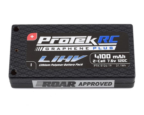 ProTek RC 2S 120C Si-Graphene + HV LCG Shorty LiPo Battery (7.6V/4100mAh) - 5124-19