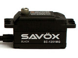 SAVOX SC1251MG-BE LOW PROFILE DIGITAL SERVO - SAVSC1251MG-BE - ActivRC - 1