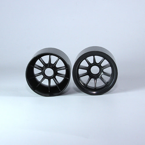 TUNING HAUS F1 Foam Front Wheels (2) Black (use with Shimizu rubber) - TUH1179