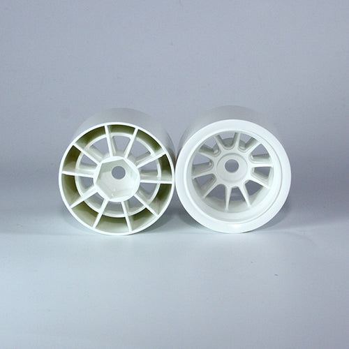 TUNING HAUS F1 Foam Rear Wheels (2) White (use with Shimizu rubber) - TUH1181
