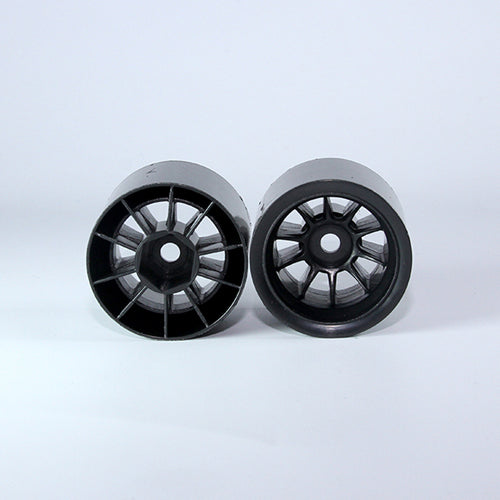 TUNING HAUS F1 Foam Rear Wheels (2) Black (use with Shimizu rubber) - TUH1182