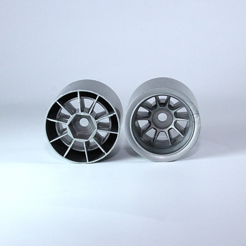 TUNING HAUS F1 Foam Rear Wheels (2) Gunmetal (use with Shimizu rubber) - TUH1183