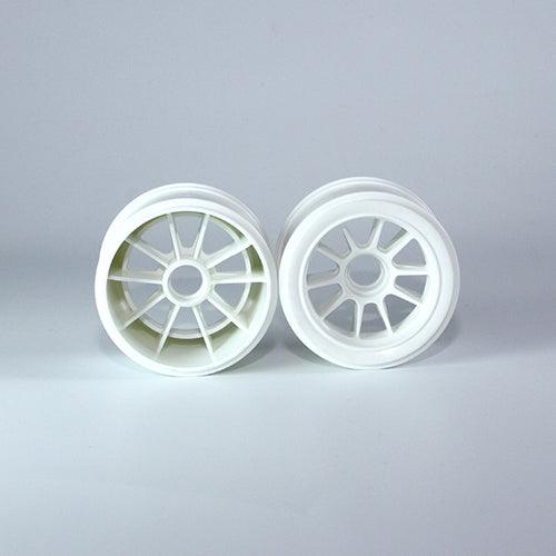 TUNING HAUS F1 Rubber Front Wheels (2) White - TUH1184