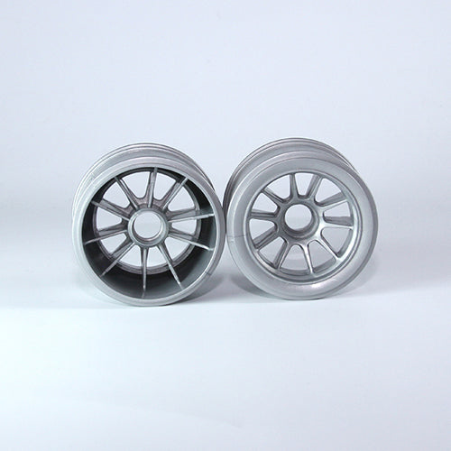 TUNING HAUS F1 Rubber Front Wheels (2) Gunmetal - TUH1186