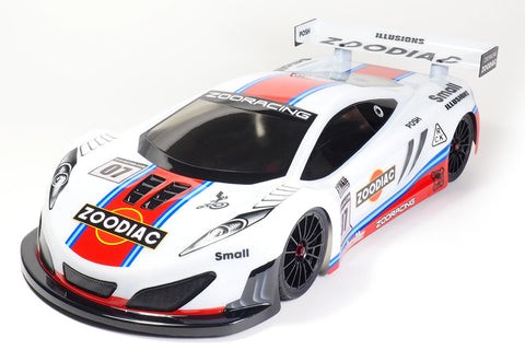 ZOORACING Zoodiac 1/10 GT Body Clear 190mm Standard - ZR-0007-07