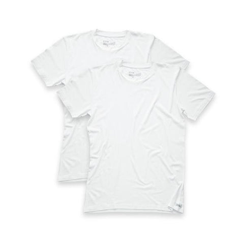 Twin Pack Organic Cotton & Bamboo Fitted Crew Tee