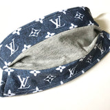 Repurposed LV Reversible Face Mask / Heather Gray