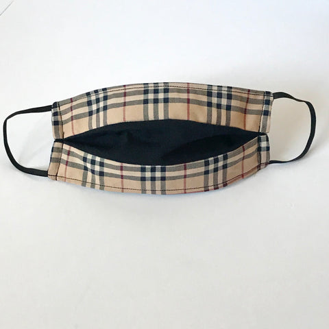 Authentic Repurposed Burberry Double Sided Face Mask