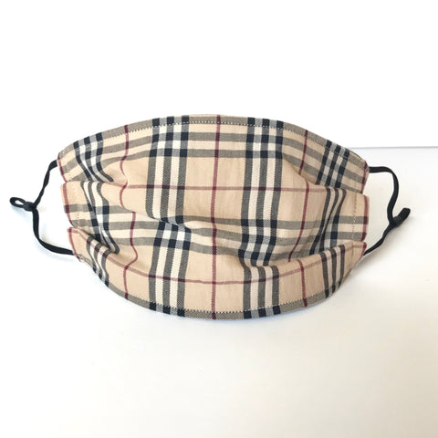 Authentic Upcycled Burberry Face Mask