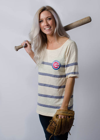 Cubs Patch on Sexy Off-the-shoulder T