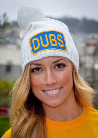 Dubs patch on winter beanie
