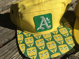 A's hat with Anonymous brim