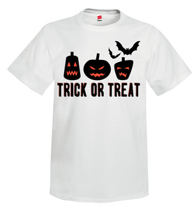 Trick or Treat Unisex 100% Cotton Short Sleeve T-shirt