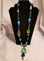 Handmade Jewelry - Tropical Blue Colors Necklace