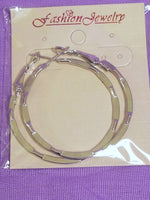 Nickel-Finished Hoop Earrings - 1 Pair